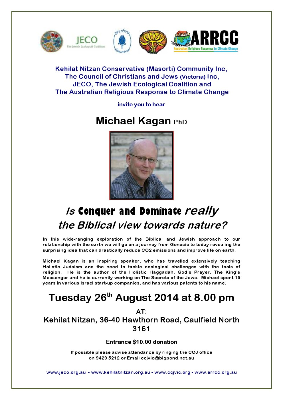 Michael Kagan Talk - Flyer